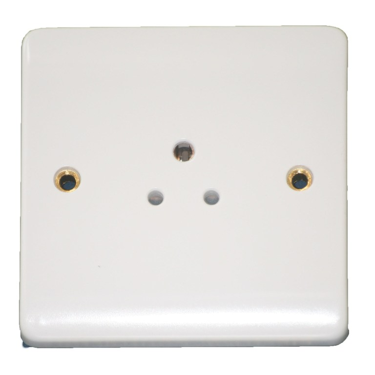 Click 2 Amp 3 Pin Unswitched Socket Outlet Three Pin