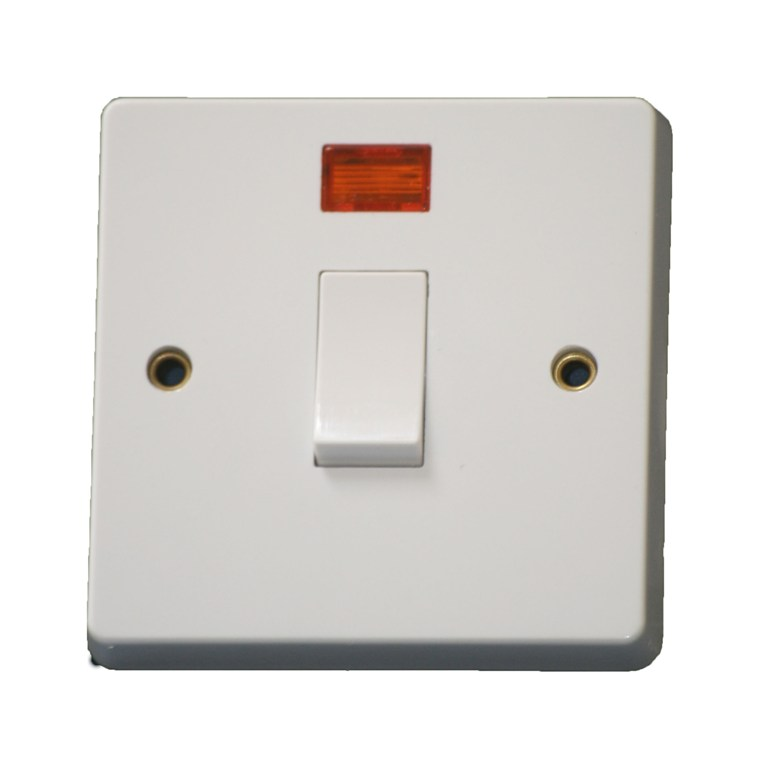 Crabtree 4015 20 amp Double Pole Switch Control Switch White