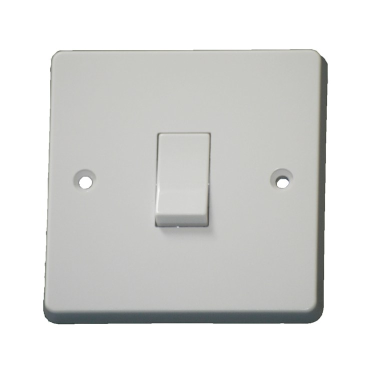 Crabtree 4170 1 Gang 2 Way Light Switch Plate Switch White