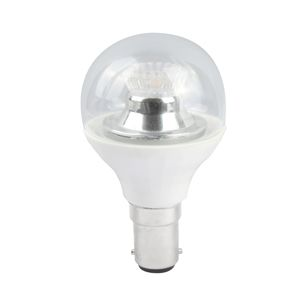 Dimmable LED Small Bayonet Cap SBC LED Round Gold Ball Lamp B15 Clear 45MM 2700K Warm White