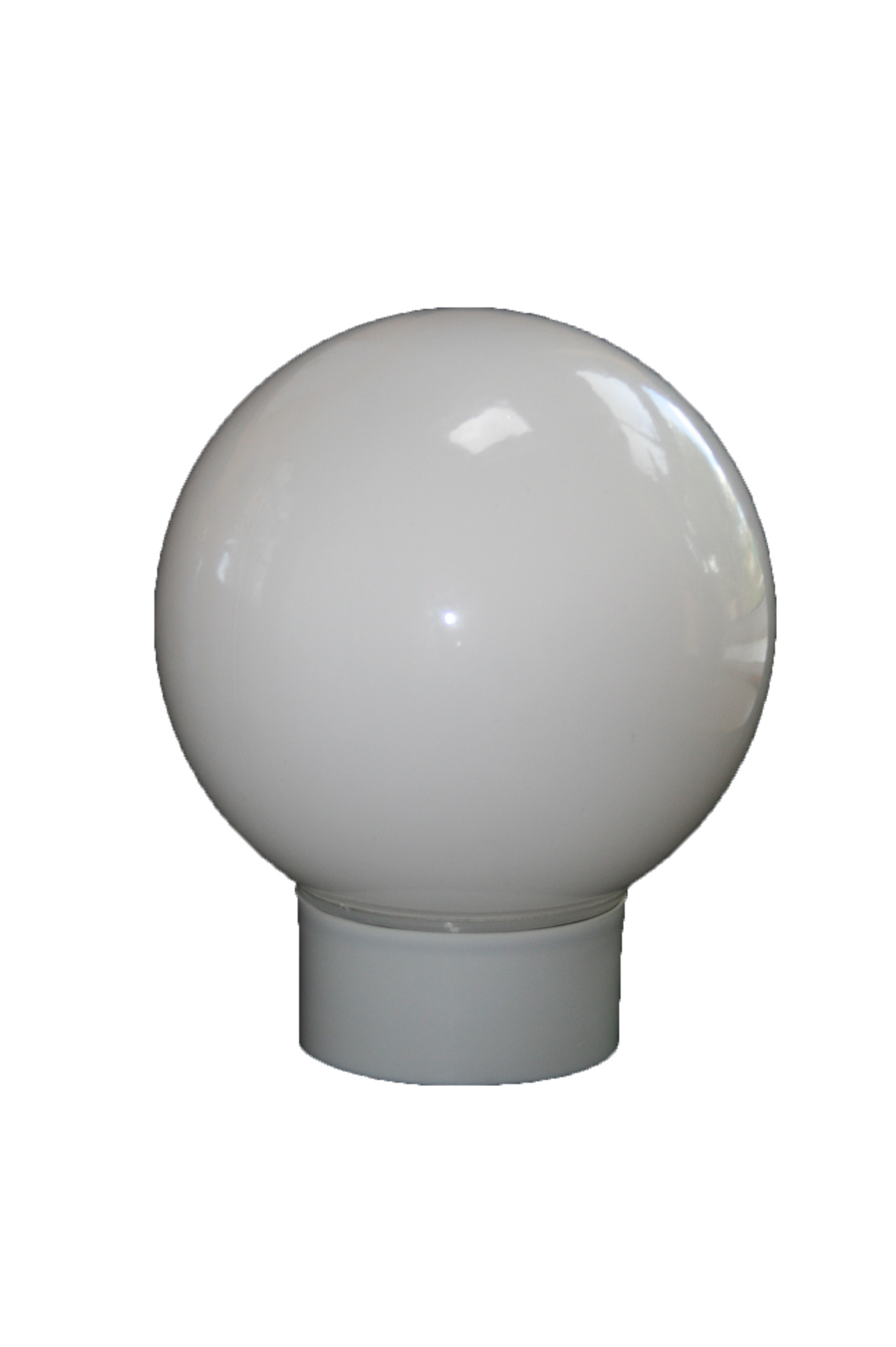 Globe Ceiling Light Fitting Double Insulated Bc Lamp Base And Round Opal Small Glass Bowl