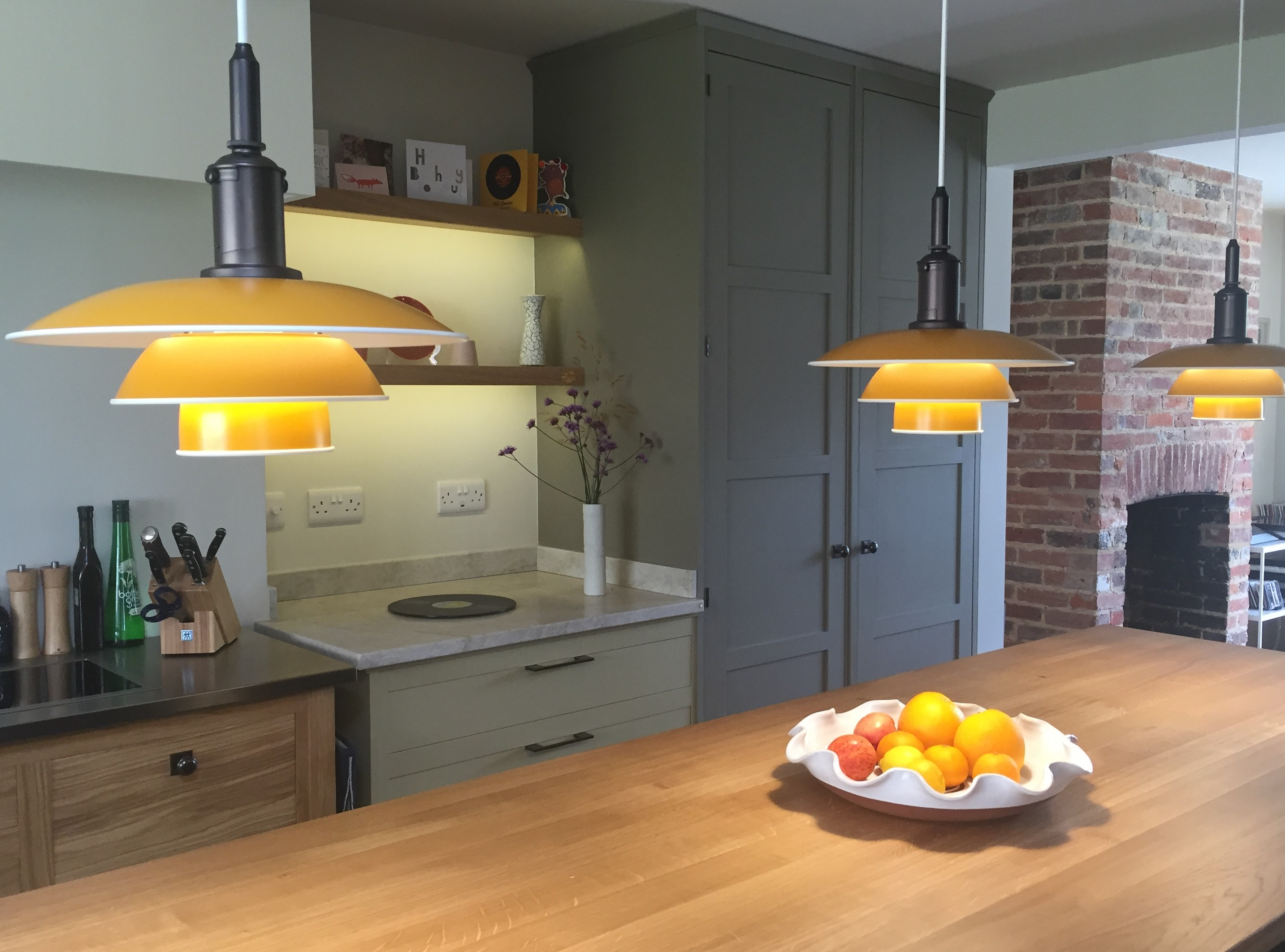 Kitchen Island Pendant Lighting and LED Under Shelf Lights