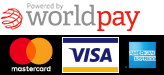 Powered by Worldpay you can easily checkout using Master Card, Visa and American Express