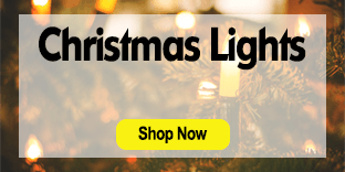 Christmas lights promo: links to Christmas lights category